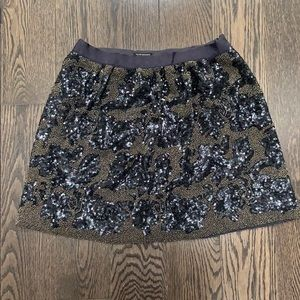 Club Monaco Beaded & Sequenced Mini Skirt
